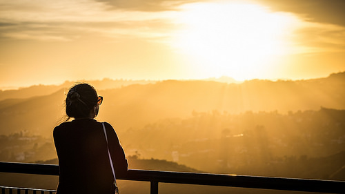 Looking at sunset - Los Angeles, United States - Street photography